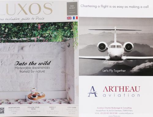 Artheau Aviation Featured in Luxos Magazine