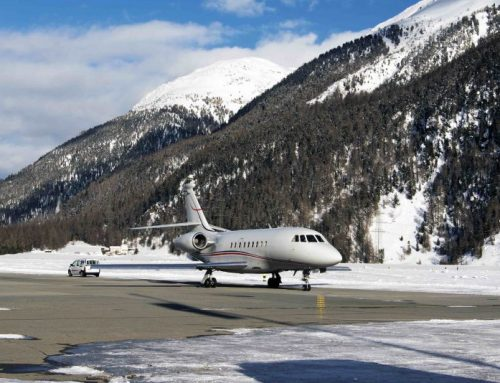 Ski resorts by private jet and helicopter