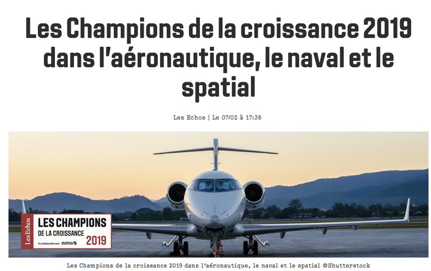 Artheau Aviation dans le palmarès des 500 entreprises les plus dynamiques de France