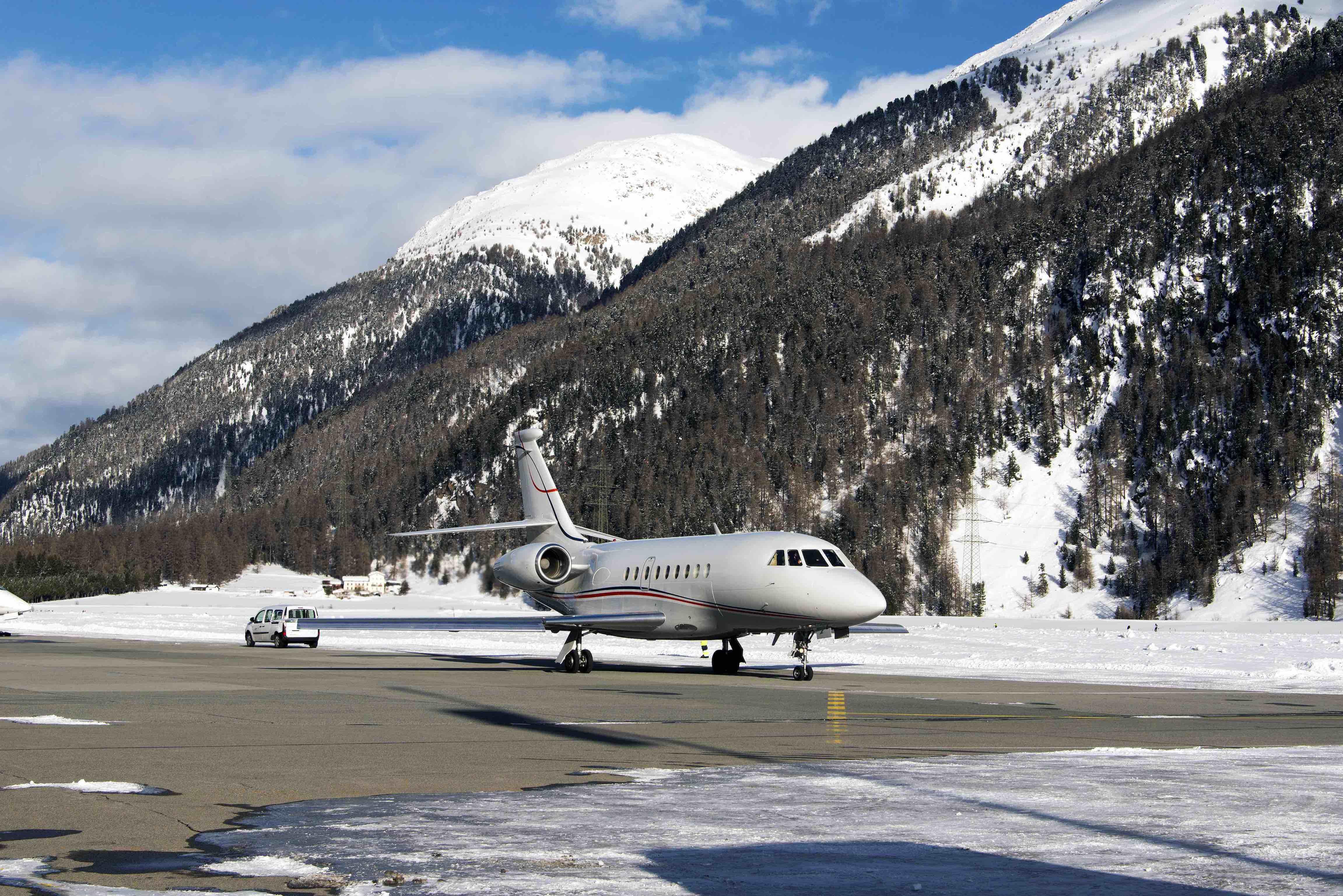 Les stations de ski en jet privé et en hélicoptère